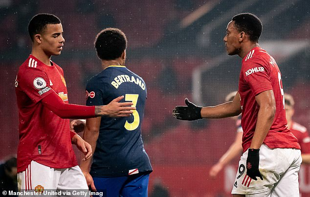 Martial has found chances to play out wide limited with the emergence of Mason Greenwood