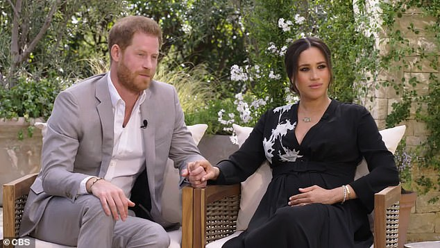 Buckingham Palace is bracing itself for 'shocking' revelations from Meghan and Harry's tell-all Oprah Winfrey interview after teasers for the primetime special (pictured) were released yesterday