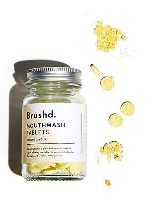 Pastillas de enjuague bucal Brushd Lemon, £ 5.49 por 120 tabletas, brushd.co.uk