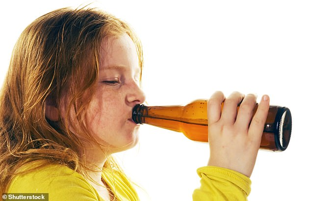It is not illegal for a child aged five to 16 to drink alcohol at home or on other private premises. However, this does not mean it is recommended. Drink Aware strongly advises an alcohol-free childhood, as recommended by Chief Medical Officers (stock image)