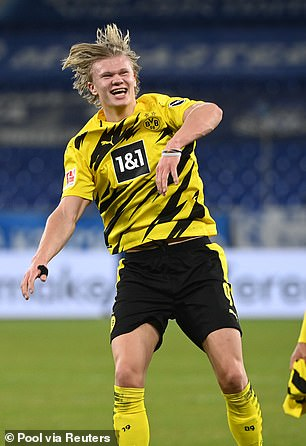 Erling Haaland is also one City's options to be Aguero's successor