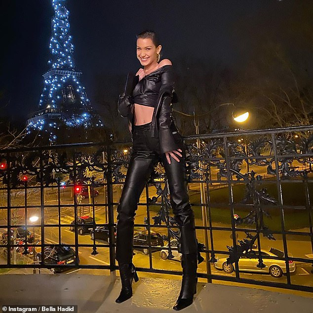 Unbelievable: Bella Hadid was thrilled to be back in Paris as she took to Instagram on Wednesday to share photos returning from her trip to the French capital last year