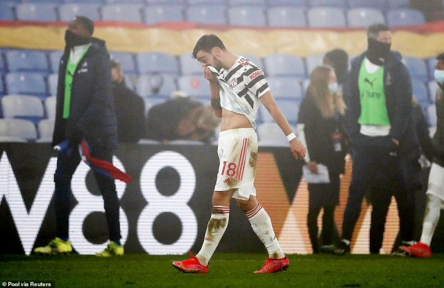 Talisman Bruno Fernandes left the pitch full of frustration after failing to provide the spark for his side to win the match