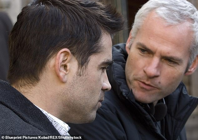 Reunion: Colin's upcoming projects would include a film by legendary playwright Martin McDonagh with whom he has a long history;  we see them shoot the 2008 film in Bruges