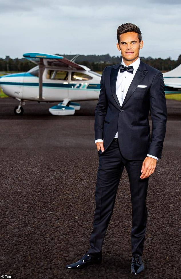 Case of the ex: Channel 10's new pilot Bachelor Jimmy Nicholson (pictured) dated Bella Varelis shortly after placing runner-up on Locky Gilbert's season in 2020