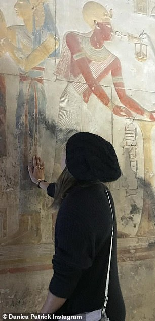 Exploration: Danica posted a series of photos she took in Egyptian temples as she toured the country for a two-week vacation