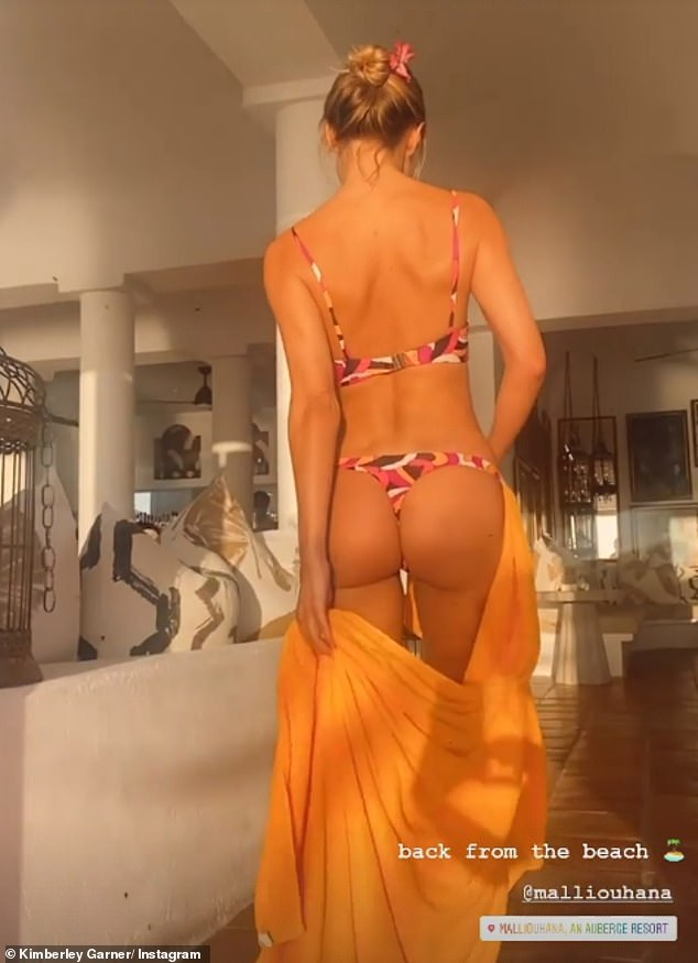 It's a bad deal: Fitness-crazed Briton flashed her butt after returning from recent beach trip in Anguilla