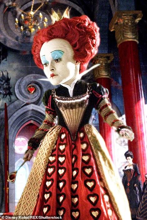 Inspiration: Helena Bonham Carter in Tim Burton's 2010 live-action film Pictured