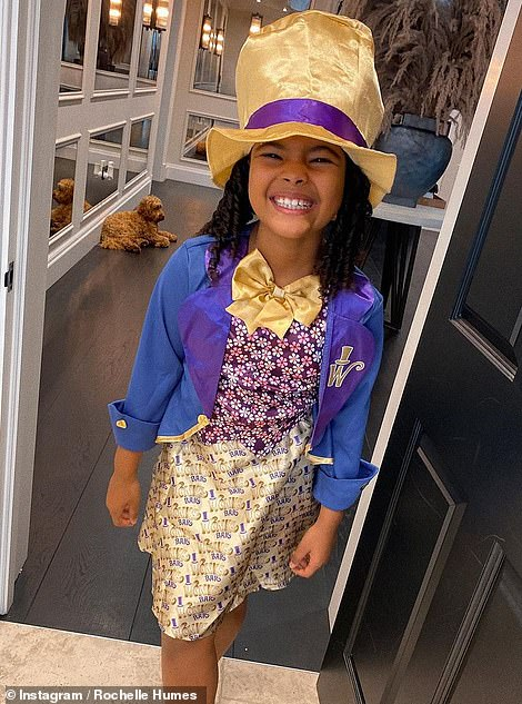 Happy World Book Day!  Rochelle Humes led the stars in helping their children mark the event on Thursday, with daughter Alaia-Mai, seven, dressed as Willy Wonka
