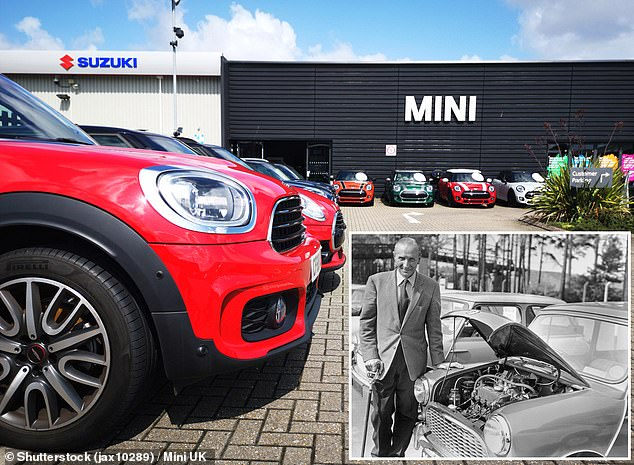 Worst February for car sales in 62 years: Just over 51,000 new models were registered last month, which is the lowest level since 1959 - when the original Mini was first launched (inset)