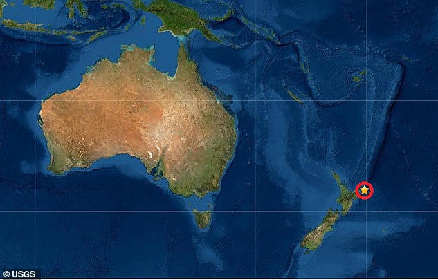 This diagram shows where the earthquake struck off the coast of New Zealand on Friday
