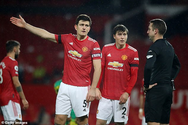 Man United duo Harry Maguire and Victor Lindelof have struggled to dominate rival attacks
