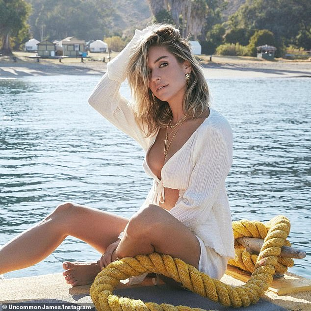 In beauty: Kristin Cavallari posts a stunning photo on Instagram to hook up her Uncommon James jewelry line.  The 34-year-old Hills veteran has been layered in new yellow gold jewelry from her hit collection