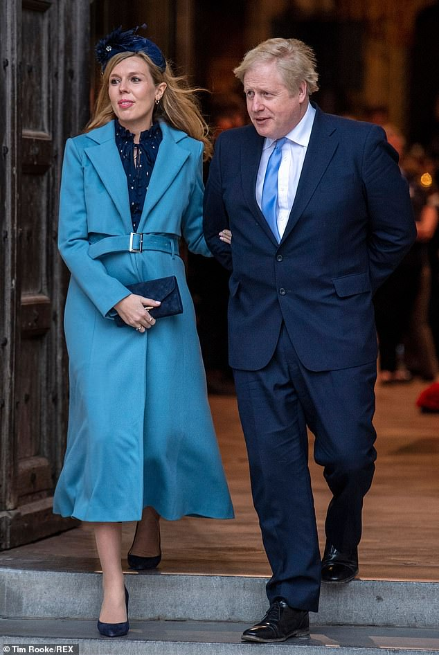 Meanwhile, The Mail reveals today that Mr Johnson and Miss Symonds have also enjoyed an estimated £12,500 of food deliveries in Downing Street, including prepared meals, from a luxury organic farmshop owned by Lord Bamford's wife