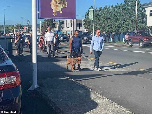 Other residents chose to flee Whangerei by foot with some locals seen taking their pets with them