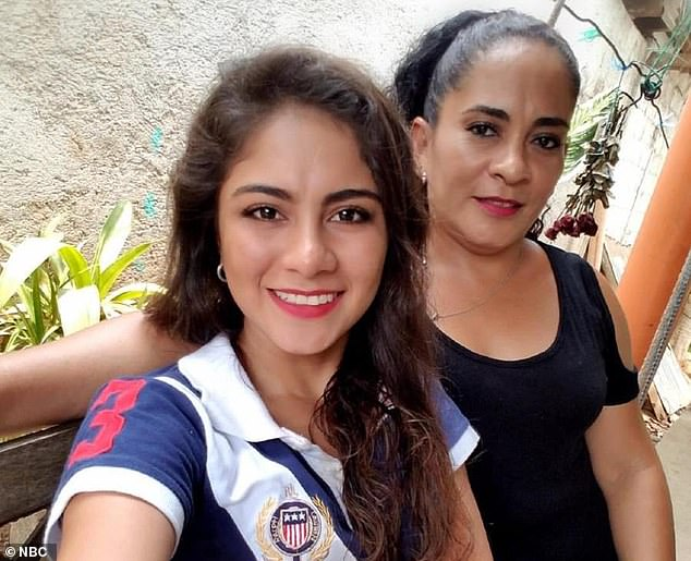 Yesenia died in her mother's arms, her family said. Berlin (right) was also injured in the crash