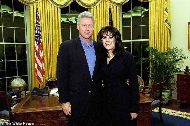 Scandal: Clinton found to have been lying under oath about her affair with Lewinsky