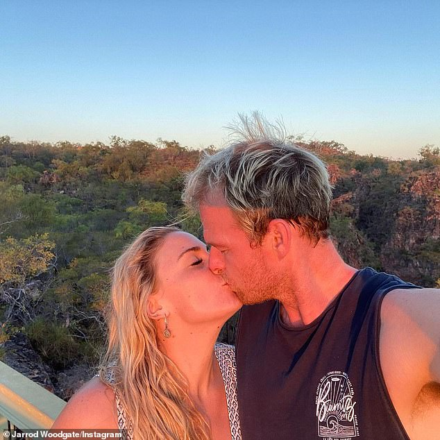 'I can't wait to start this next chapter!' The former reality star announced the happy news on Instagram along with a photo of the pair kissing