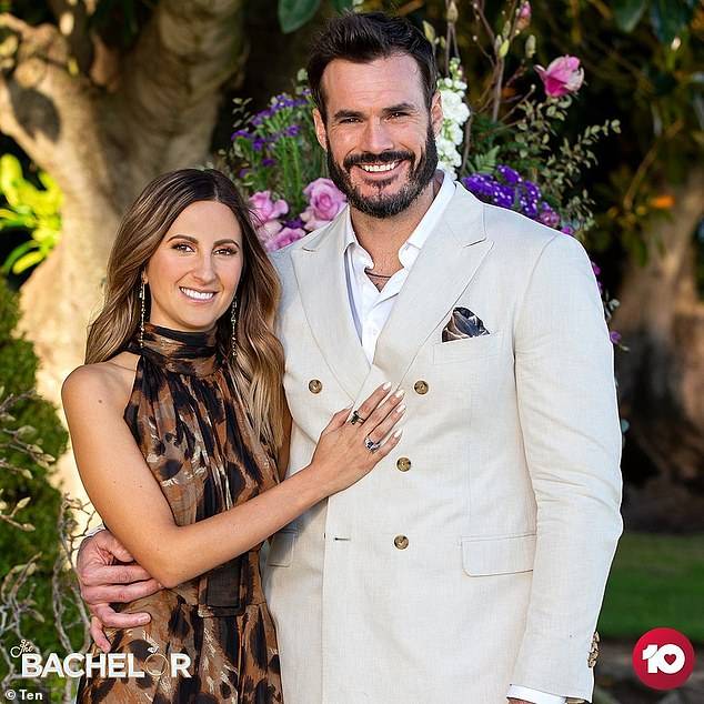 Smitten: Fans will remember Locky brutally dumped Bella Varelis in The Bachelor finale last year. He instead pursued a relationship with her rival Irena Srbinovska, telling her: 'Irena, I'm so in love with you. And I can't wait to spend the rest of my life with you'