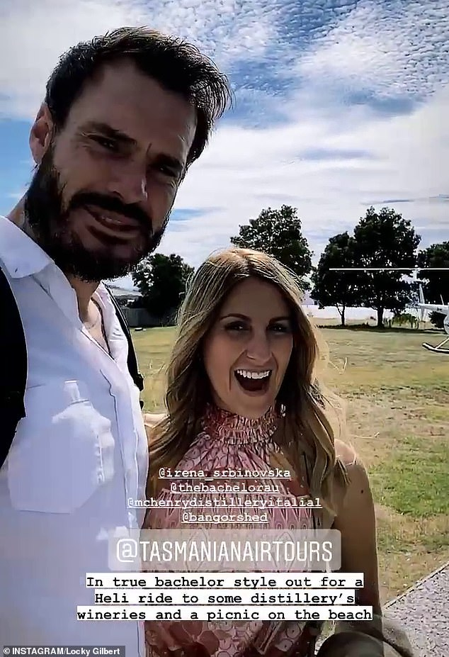 "True Bachelor style: On Thursday Locky shared a video from their romantic `` Bachelor-style '' date.  ""It's a very special day for us today.  A year since we met on the red carpet, '' he said, revealing that they were going to a beach and a vineyard."