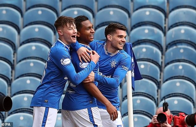 The Colombian scored Rangers' winner in midweek and was on the scoresheet again here