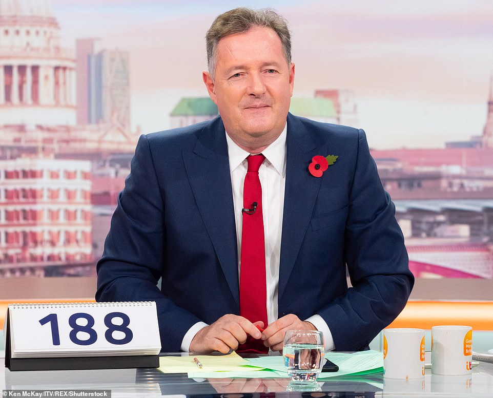 Piers Morgan (pictured) has slammed Meghan Markle's friend Patrick J Adams after the Suits actor hit out at the Royal Family and suggested it should be abolished