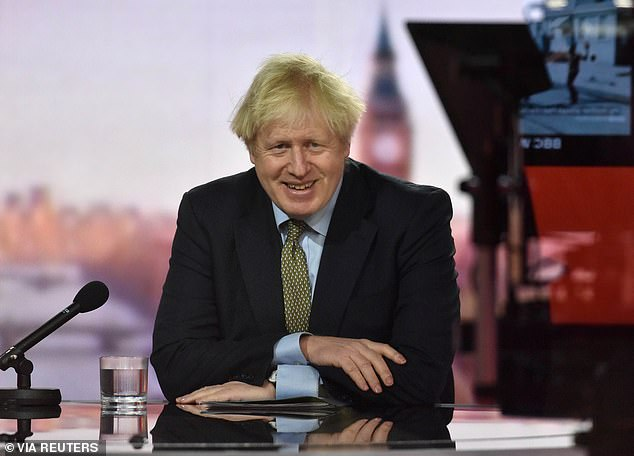 PM Boris Johnson, pictured, said the full resumption of teaching from tomorrow marked the first stage of his 'irreversible' roadmap out of lockdown and was testament to 'a truly national effort to beat this virus'