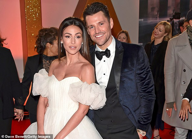 The Our Girl actress rubbished speculation that she had caused a strain by spending months away from former The Only Way Is Essex star Wright while filming in South Africa and Malaysia (couple pictured together at an awards ceremony in January 2019)