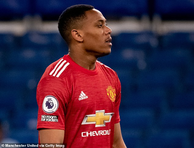 Saha said Martial, 25, must 'be obsessed with scoring goals' as Manchester United's No 9