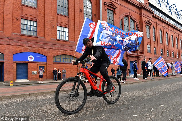 There was an outpouring of joy from Rangers fans as a decade of hurt was ended on Sunday