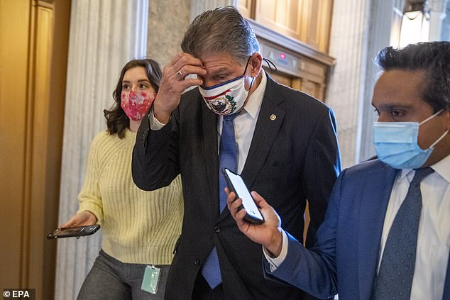 Senator Joe Manchin said Sunday morning he isn't willing to cut Republicans out of the legislative process as he held hold up a Senate vote on the $1.9 trillion COVID relief bill