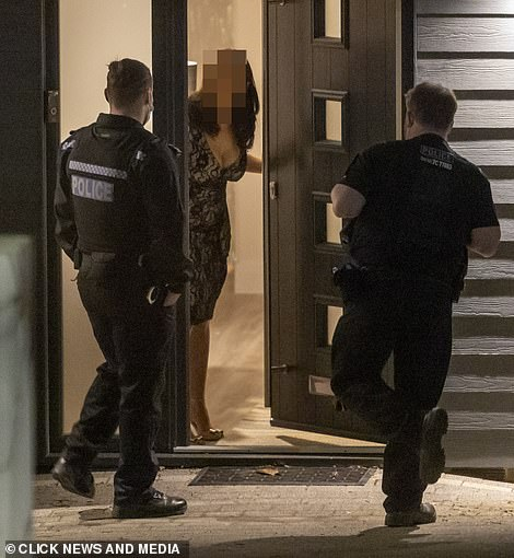 Quick visit: The policemen left after talking on the doorstep