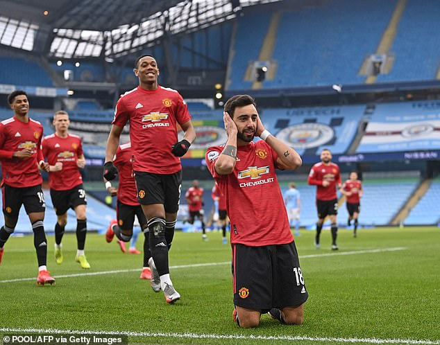 Goals from Bruno Fernandes and Luke Shaw saw Manchester United end City's winning run