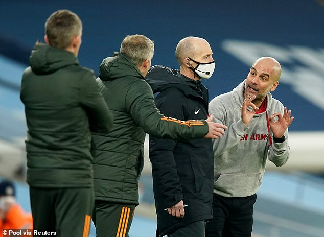Manchester City boss Pep Guardiola has played down his spat with Ole Gunnar Solskjaer