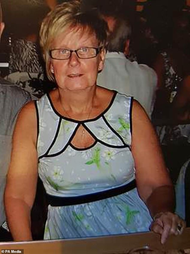 Ruth Williams (pictured), 67, was strangled to death by her husband Anthony, 70, at their home in Cwmbran, South Wales, on March 28 last year