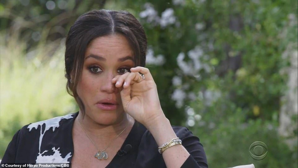 Meghan Markle has told Oprah Winfrey that she was suicidal when she was part of the Royal Family living in the UK and told her husband: 'I don't want to be alive anymore'