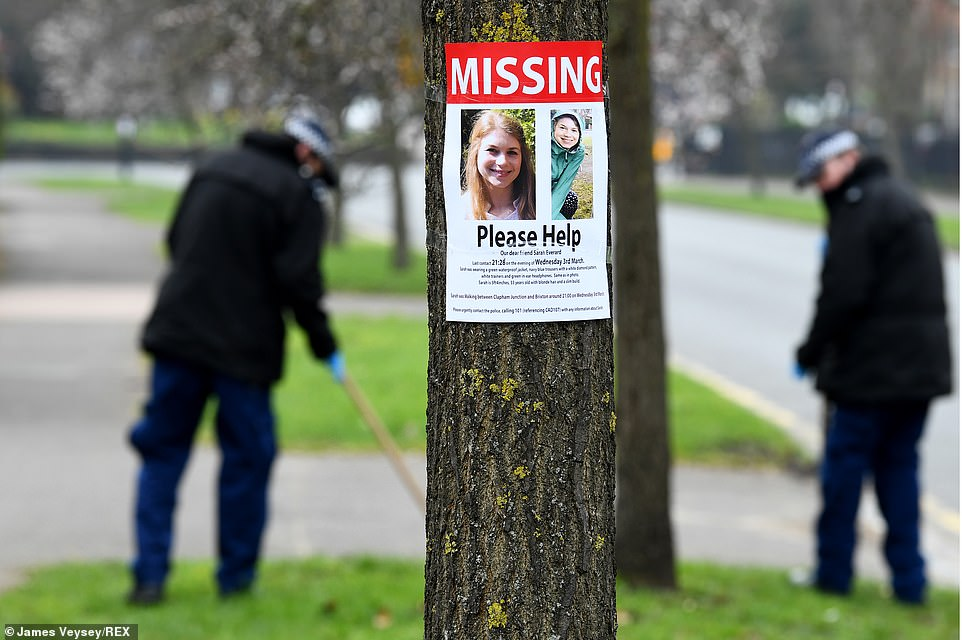 Police search near Poynders Road, Clapham where missing poster asks for help to find Sarah who went missing five days ago