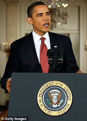 Trump's predecessor, Barack Obama, held his first news conference as president on February 9, 2009 - less than three weeks after he moved in to the White House