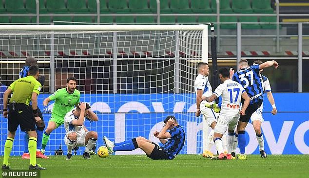 Atalanta failed to clear a corner and Skriniar fired the loose ball into the bottom left corner