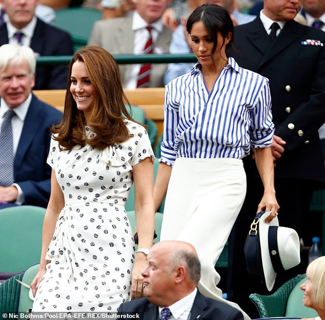 Meghan Markle revealed that 'nothing is what it looks like' when probed about her seemingly affable Wimbledon outing with Kate Middleton in 2018