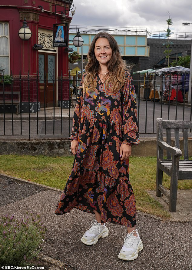 No rest for the wicked! Lacey Turner returned to work on EastEnders just days after giving birth to her son Trilby Fox