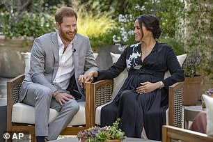 Sex doesn't sell! Married At First Sight Australia's risque 'intimacy week' episode was the show's raciest ever - but it was no match for Oprah's interview with Meghan Markle and Prince Harry in Monday night's ratings. Meghan and Harry are pictured