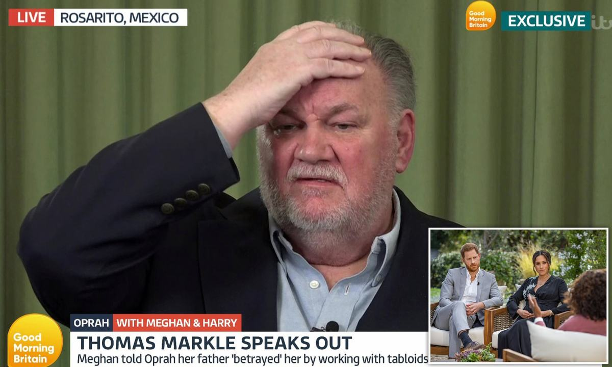 Meghan Markle's estranged father Thomas today hit back at her claims he had 'betrayed' | Daily Mail Online