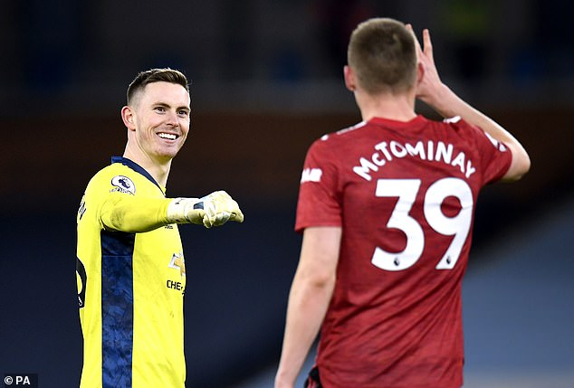 Dean Henderson (left) is looking to establish himself as United's No 1 for the 2021-22 season