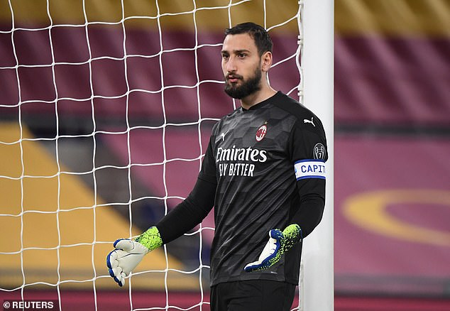 AC Milan's Gianluigi Donnarumma is out of contract this summer and is a man in demand