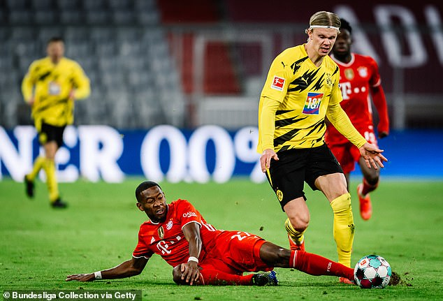 Alaba (bottom) had the opportunity to extend his 13-year stay at Bayern but turned it down