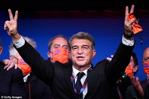 Newly elected Barcelona president Joan Laporta has earmarked Aguero as a potential arrival