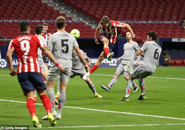 Marcos Llorente equalised for the hosts in stoppage time at the end of the first half
