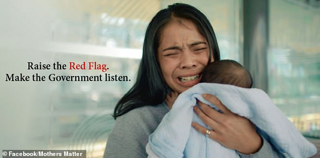 The Raise the Flag campaign by Mothers Mattersfights against the 'shaming' treatment of pregnant and new mothers and the lack of social and economic support they receive