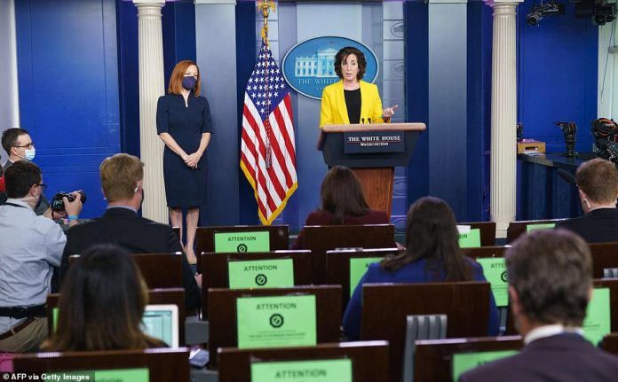 Jacobsen told the White House reporters she knew it was not a 'coincidence' that more migrants were arriving under Biden